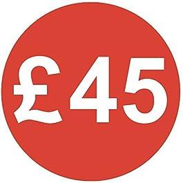 Audioprint Lot. 5000Lot de Prix £45autocollants 30mm rouge