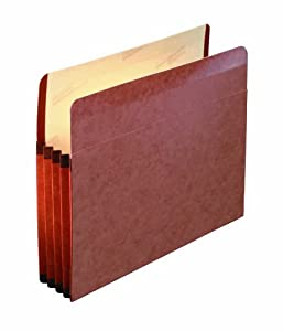 Pendaflex Premium Reinforced File Pocket, 10 Per Box, Manila and Red (85343)