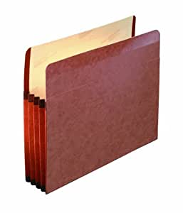 Pendaflex Premium Reinforced File Pocket, 10 Per Box, Manila and Red (85343)