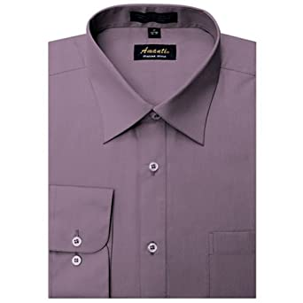 Amanti Dress Shirt-DustyViolet-Size: 14.5-Sleeve: 32/33-Neck: 14.5
