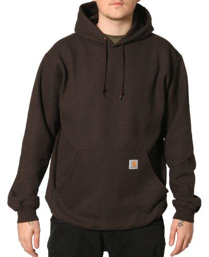 Carhartt K121 Hooded Sweatshirt Brown Mens Hoodie Top