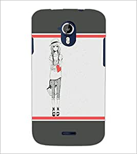 PrintDhaba Happy Girl D-1292 Back Case Cover for MICROMAX A116 CANVAS HD (Multi-Coloured)