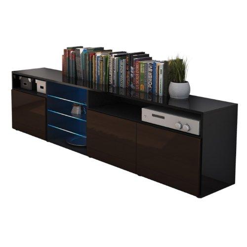 meuble tv chocolat pas cher. Black Bedroom Furniture Sets. Home Design Ideas
