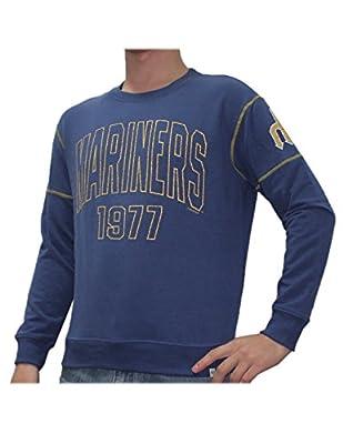 Mens MLB Seattle Mariners Athletic Thermal Sweatshirt (Vintage Look)