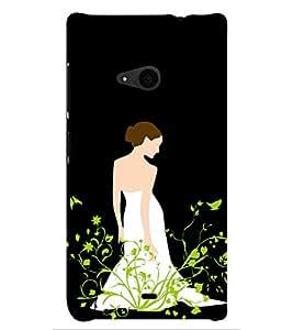 PRINTSHOPPII CUTE GIRL Back Case Cover for Nokia Lumia 535::Microsoft Lumia 535