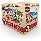 Boulder Canyon Kettle Cooked Potato Chip Variety Pack (24 Individual - 1.5 Oz Bags) of the Following Flavors: Olive Oil, Hickory Barbeque, Sea Salt and Sea Salt & Cracked Pepper