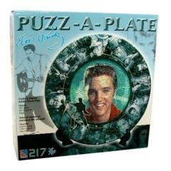 Elvis Presley - 217pc Collectors Plate Puzzle with Display Stand