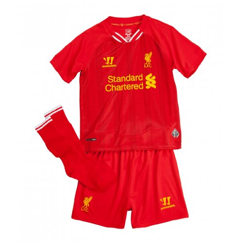 Warrior Kids LFC Home Infant Replica Set - High Risk Red/White/Amber Yellow, 6-7 Years