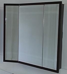 wooden medicine cabinet espresso maple wood framed 1 beveled mirror 48 x 30. Black Bedroom Furniture Sets. Home Design Ideas