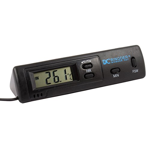 Aquarium Battery Powered Lcd Display Digital Thermometer 100Cm Cable