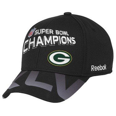 Reebok Green Bay Packers Super Bowl XLV Champions Trophy Collection Hat One Size Fits All (Green Bay Super Bowl Hat compare prices)