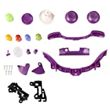 TOOGOOR Purple Case Shell Cover Buttons for Game XBox 360 Wireless Controller