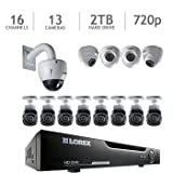 Lorex 16 Channel HD 720p Security System with 2TB HDD, 12 HD Cameras, and 1 12X Zoom HD PTZ Camera