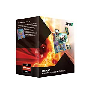 AMD A6-3670K APU with AMD Radeon 6530 HD Graphics 2.7GHz Unlocked Socket FM1 100W Quad-Core Processor - Retail - AD3670WNGXBOX