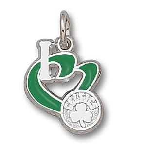 ENNSP20583V-Nba Boston Celtics Pendant - Enamel I Heart Logo Design by NBA Officially Licensed