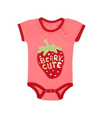 """Hatley Gathered One Piece   """"Berry Cute"""", Pink Wax, 12 18 months"""