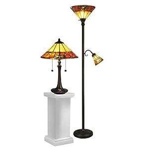 Dale Tiffany Tc12178 Genoa Table And Floor Lamp Set