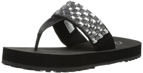 Grazie Women'S Harwood Flip Flop,Black,8 B Us back-1026694