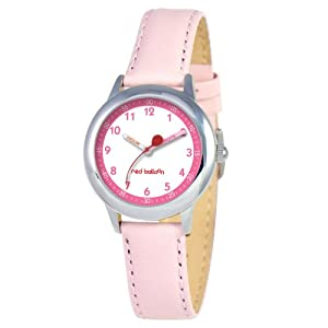 Red Balloon Kids' W000196 Stainless Steel Watch with Leather Band