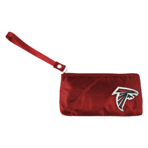 NFL Atlanta Falcons Women's Colo Sheen Wristlet Bag, Red