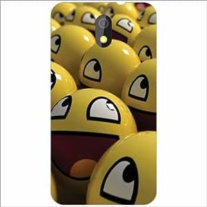 HTC Desire 326G dual sim Back Cover - Silicon Smily Designer Cases