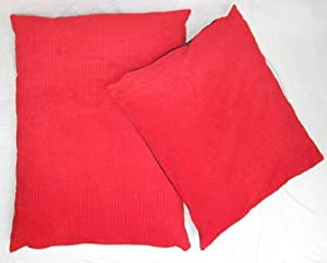 "Red Corduroy Pet Dog Cat Bed Bean Bag Cushion 28"" x 36"" from Sold By Hallways"