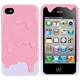 Global Melt Melting Ice Cream Detachable Hard Protective Back Case Cover Set for iPhone 4S/iPhone 4 pink(bottom colors May Vary)