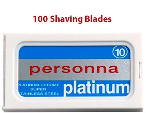 100 Israeli Personna Stainless Steel Double Edge Blades- Safety Razor - Double Edge Razor Blades - Personna Razor Blades (Personna Blades Double Edge compare prices)