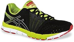 ASICS Men's GEL-Lyte33 2 Running Shoe,Black/Lime/Red,9.5 M US