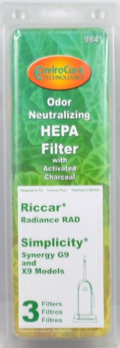 Riccar Radiance, Simplicity Synergy Vac Cleaner Filter (Riccar Filters compare prices)