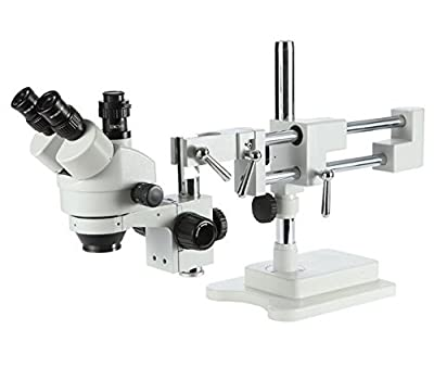 GOWE 3.5X-90X! Double Boon Stand Stereo Zoom trinocular Microscope+3.0M USB camera +144pcs Led Microscope