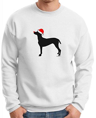 Merry Grristmas Christmas German Pointer Santa Hat Premium Crewneck Sweatshirt Small White