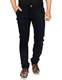 Nimegh Navy Blue Colored Corduroy Casual Solid Trouser For Men's