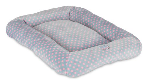 Precision Pet Snoozzy Polka Dot Baby Bumper Bed, Size 2000, Pink (Precision Pet Bumper Pillow Bed compare prices)