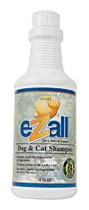 eZall Anti-Allergen Dog and Cat Shampoo, 16-Ounce