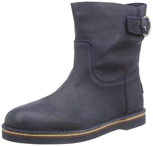 Shabbies AmsterdamShabbies stitchdown buckle booty 17cm Vintage sole last ALISSA - Stivali classici imbottiti a gamba corta Donna , Blu (Blau (Dark Blu 522)), 36