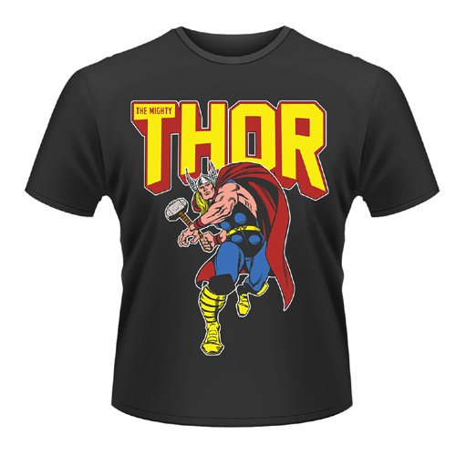 Playlogic International(World) - Marvel Comics Thor Leap, T-shirt da uomo, nero (black), XL