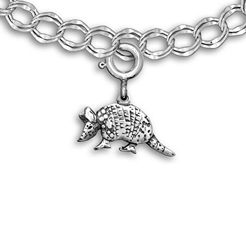 Sterling Silver Armadillo Charm for Charm Bracelet by The Magic Zoo (Armadillo Costume)