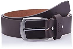 Covo Brown Leather Men's Casual Belt (BJ40PB31034)