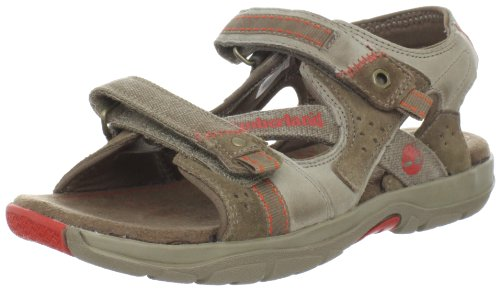 Timberland Timberland Kids Earthkeepers Canobie Sandal Greige With Orange