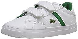 Lacoste Fairlead 116 1 Sneaker (Toddler/Little Kid/Big Kid), White, 8 M US Toddler