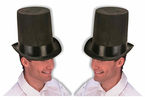 2 Pack - Adult Costume President Lincoln Stove Pipe Hat front-90312
