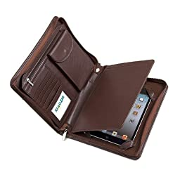 Compact Deluxe Leather Padfolio Case, Fits iPad Mini 4 and Junior Legal Paper