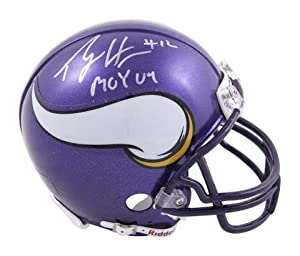 Percy Harvin Minnesota Vikings Autographed Riddell Mini Helmet with ROY 09... by Sports Memorabilia