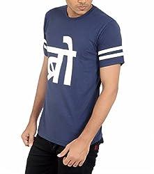 Younsters Choice Men's Cotton T-Shirt (YC-5830_Dark Blue_X-Large)