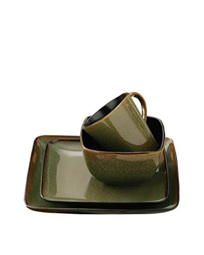 Premier Housewares Servizio Tavola 16 pezzi Verde