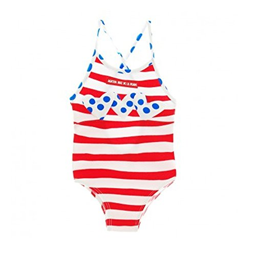 Agatha Ruiz de la Prada Cute Red White Striped Swimsuit