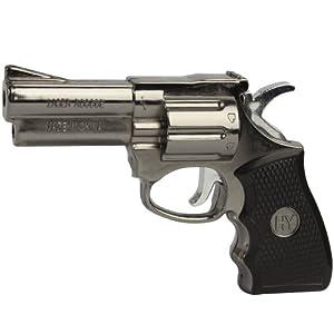 Windproof Pistol Butane Gas Jet Flame Torch Lighter Silver-black