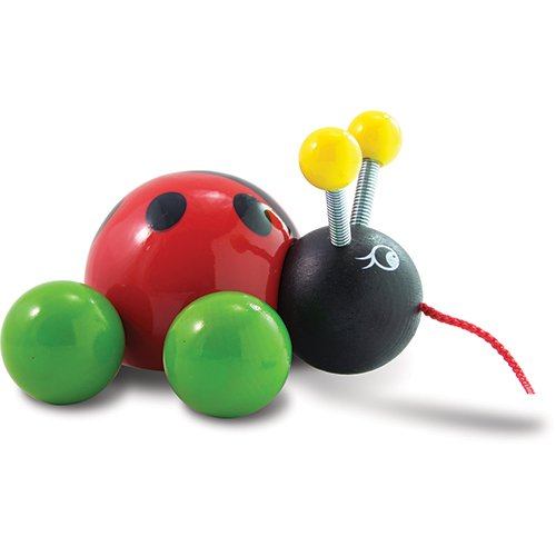 Vilac Baby Lady Bug Pull Toy