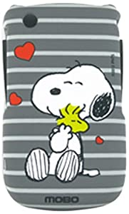 MOBO ECDBB8520SN17 Licensed Snoopy Peanuts Case for BlackBerry 8520 8530 9330 - Retail Packaging - Crystal
